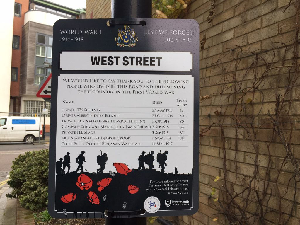 Lest we forget … bringing the names of the dead to the streets where we live