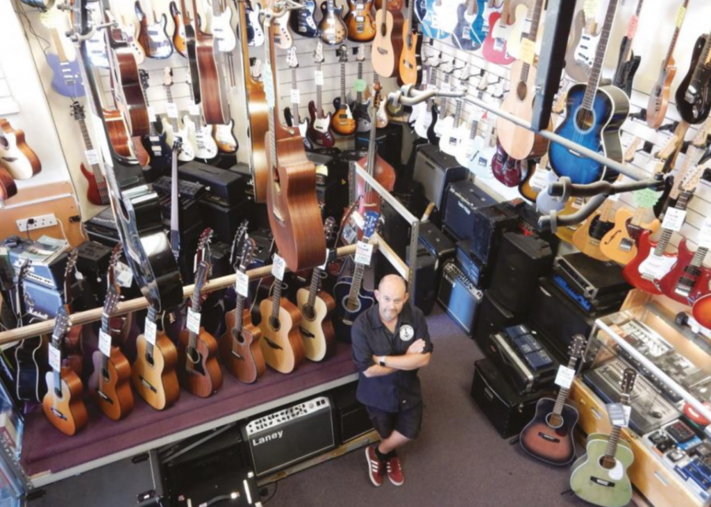 Tickled pink at Southsea Guitar Centre
